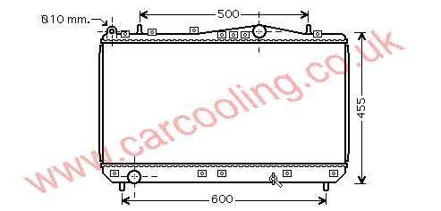 Radiator Chevrolet Tacuma    96271477