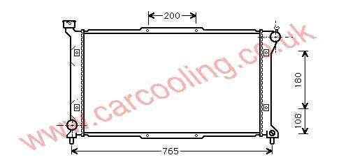 Radiator Subaru Legacy II 45199-AC041