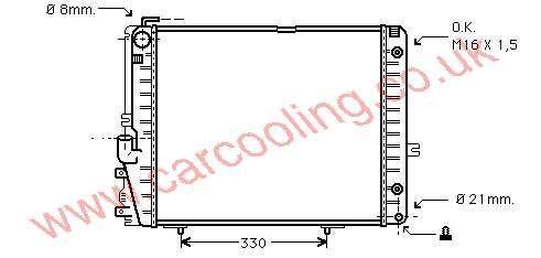 Radiator Merc. T124 Estate    124.500.2803 / 9003