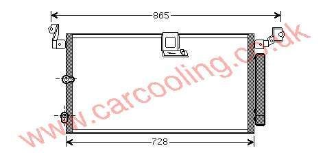 Condenser Lexus RX300 88450-48010