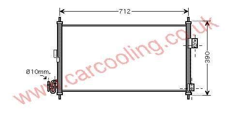Condenser Nissan X - Trail    92100-9H200 / 9H210