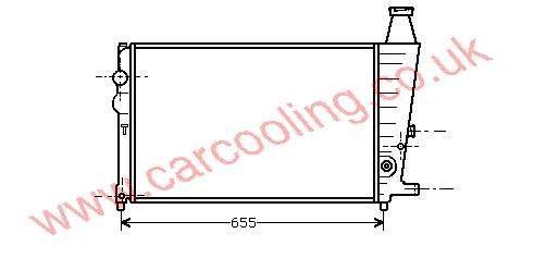 Radiator Citroen BX    95495384 / 95495038