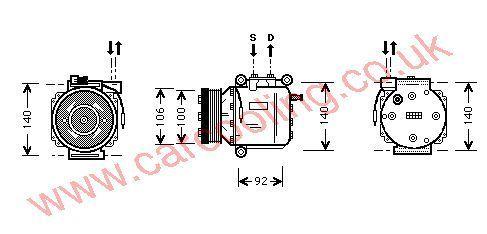 Compressor SAAB 9-3 4635892