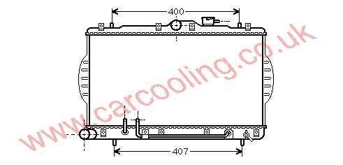 Radiator Hyundai Excel III    25310-22B00 / 22070