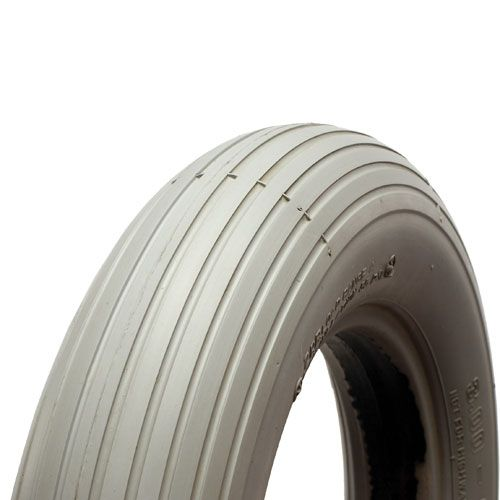 280/250 x 4 Infilled Cheng Shin/Primo Grey Puncture Proof Rib Tyre ITH4C179