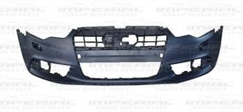 AUDI A6 11-14 FRONT BUMPER WITH WASH JET HOLES - NO SENSOR HOLES - PRIMED (NOT S LINE MODELS) AU239AWBCN