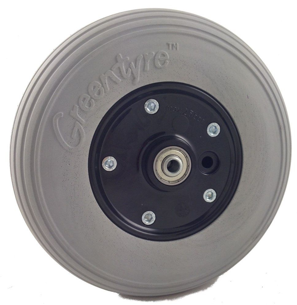 "8"" x 2"" (200mm x 50mm) Powerchair Castor Wheel with PU Tyre GTE200L/WB"
