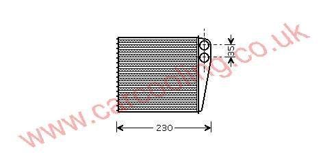 Heater Matrix Skoda Octavia 1K0.819.031
