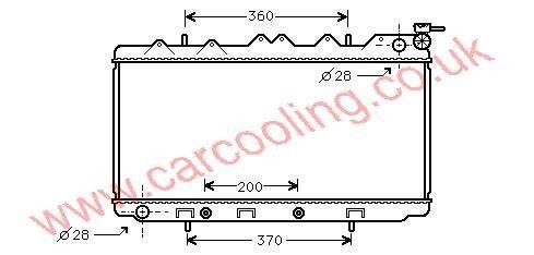 Radiator Nissan Sunny IV 21460-68Y00