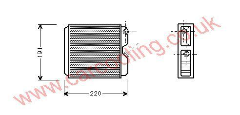 Heater Matrix Vauxhall Astra Mk 4    1618005