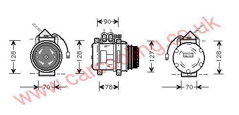 Compressor Porsche 964 96412612102