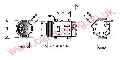 Compressor Scania 120 Series    1376998