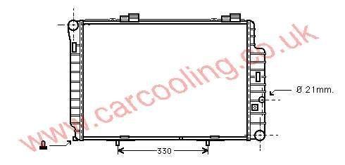 Radiator Merc. W202 C-Class    202.500.2103 / 6603