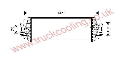Intercooler Nissan Primastar X83    14496-00QAA