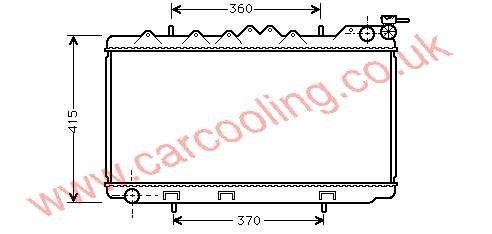 Radiator Nissan Primera P10    21410-70J00