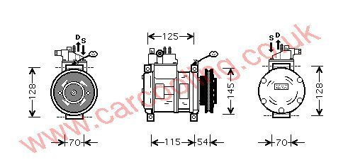 Compressor Chrysler Voyager    4677040E