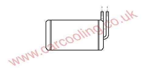 Heater Matrix Opel Senator A    1806103 - 03041557