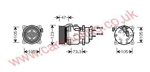 Compressor Peugeot 307    6453KW