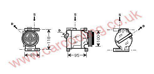 Compressor Fiat Idea    46782669