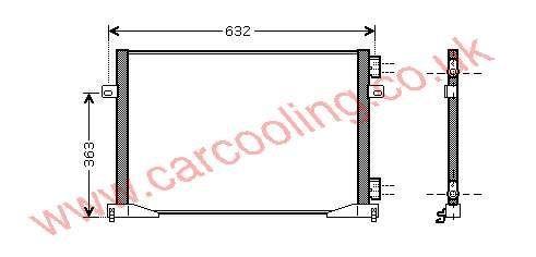 Condenser Nissan Primastar X83 27650-00QAG
