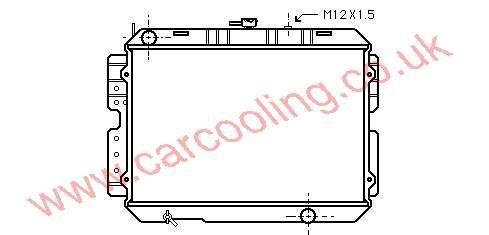 Radiator Mazda B-Series    R226-15-200 A / B