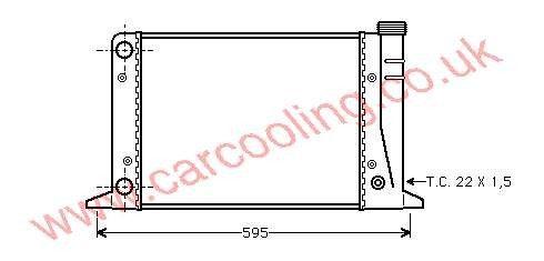Radiator Audi 80 II    811.121.253