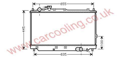 Radiator Kia Carens I    OK2CN-15-200