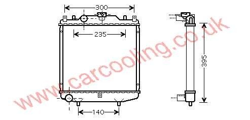 Radiator Daewoo Tico    17700-78B10