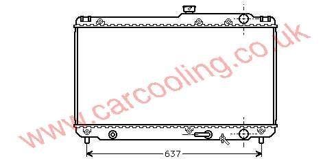 Radiator Toyota Camry III 16400-62100 / 62110