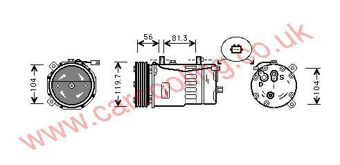 Compressor Audi A3    1J0820803A