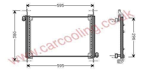 Condenser Fiat Brava    46532988