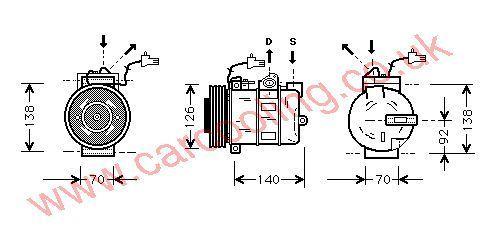 Compressor SAAB 9-5 4541207