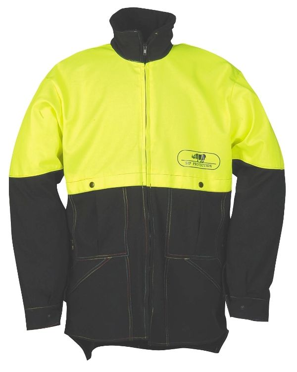 SIP Stretch Forestry Jacket Black & Yellow 1SK7 Size Large