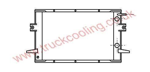 Radiator Iveco Daily I - Grinta    93807445 / 93807802