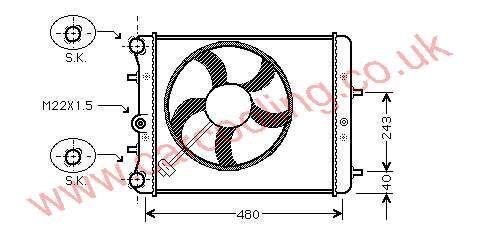Radiator Skoda Fabia 6Q0.121.253 BT