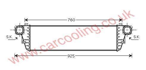 Intercooler Merc. W203 C-Class    203.500.0000