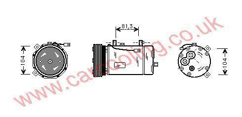 Compressor VW Sharan    95NW19D629BB