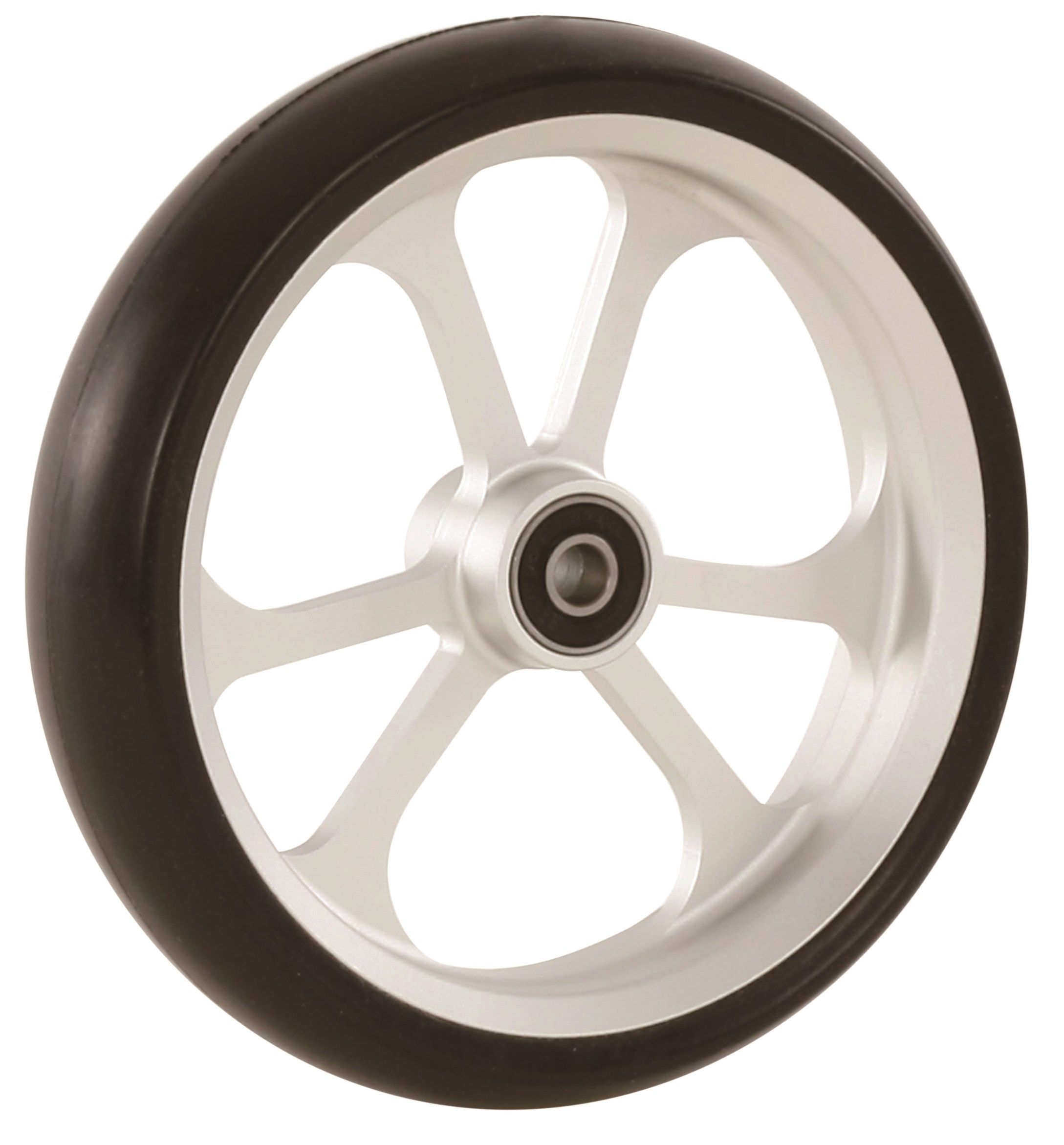 "150mm x 34mm (6"") Castor Wheel with ALUCore Hub, Black Rubber Tyre"