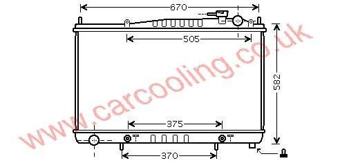 Radiator Nissan Pathfinder 21460-0W510 /