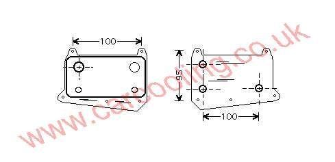 Oil Cooler Merc. W211 E-Class    611.188.0301