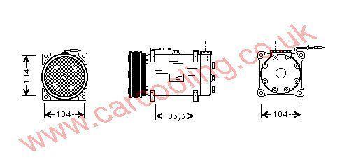 Compressor Peugeot Partner    6453N1