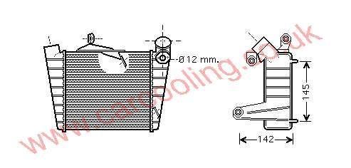 Intercooler Skoda Fabia 6Q0.145.804 A