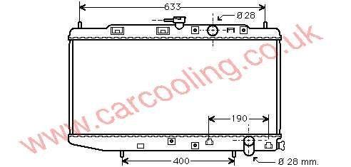 Radiator Honda CRX II 19010-PM4-003