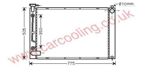 Radiator Lexus RX300    16041-20310