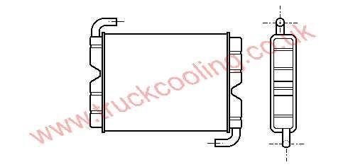 Heater Matrix Scania 90 Series    0283414 / 1331928