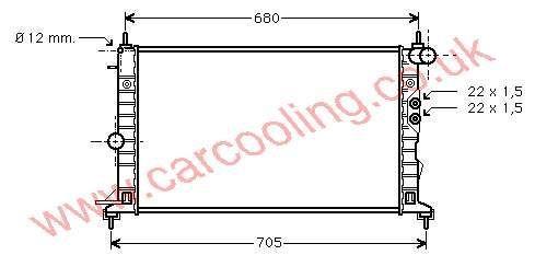 Radiator Opel Vectra - B    1300185 - 52479098