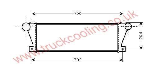 Intercooler Iveco Daily II    93817393 / 93822907