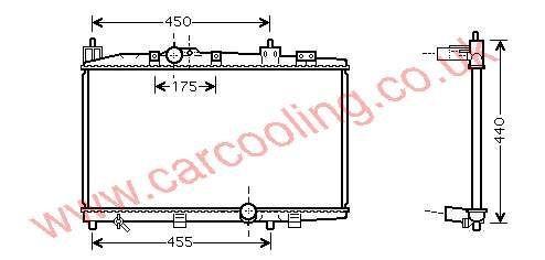 Radiator Toyota Yaris Verso    16400-33080