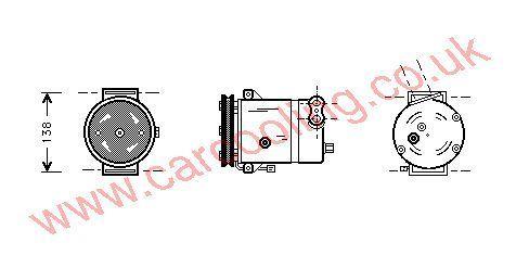 Compressor Chevrolet Lanos    96255980