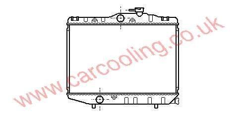 Radiator Toyota Starlet 16400-10010 / 10011
